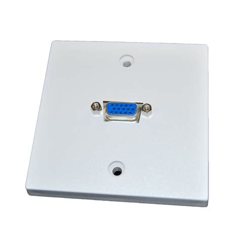 Faceplate Vga modular faceplates media outlets audio videk network systems and it solutions