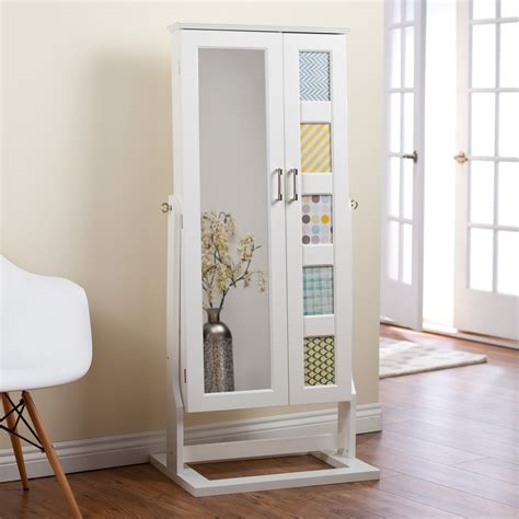white mirror jewelry armoire tall cute standing jewelry boxes oblacoder
