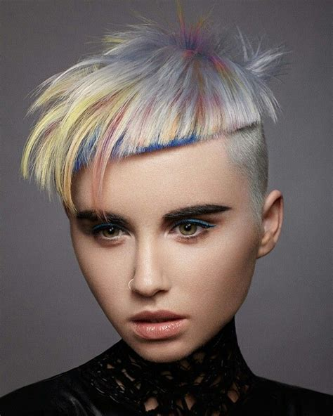 creative haircuts on pinterest water color by goldwell color zoom 2016 finalists