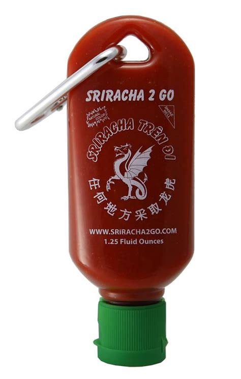 Sriracha2go A Tiny Refillable Bottle Of Sriracha That