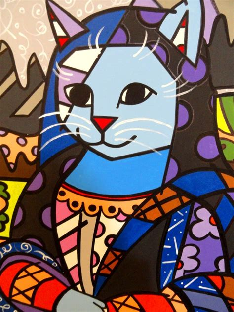 mona cat mona cat romero britto related keywords mona cat romero