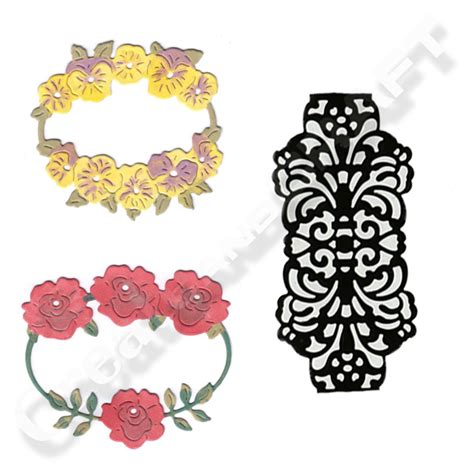 Kl Of Frame Colour Wrapping Bunga joanna sheen s floral frames and wraps set of 3 x dies 2 x floral frames 1 x lace wrap 402540