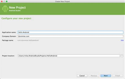 android studio tutorial for dummies starting a new project in android studio dummies