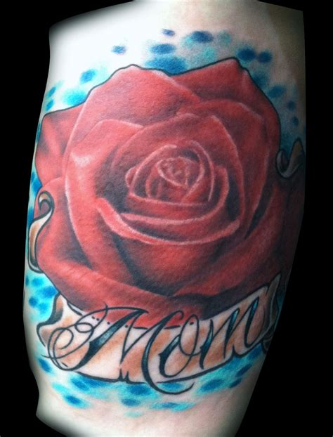 rose tattoo banner realistic with banner by matt