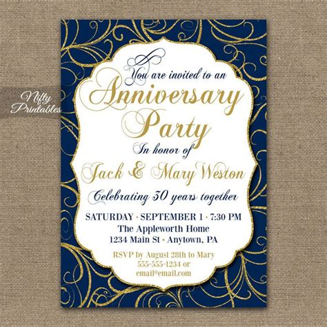 Wedding Anniversary Ideas Nsw by 17 Best Ideas About Anniversary Invitations On
