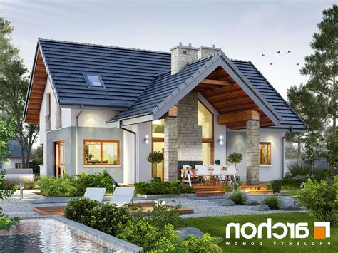 projekt domu dom w brunerach archon