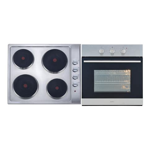 oven cooktop package bellini 60cm stainless steel electric cooktop and oven package