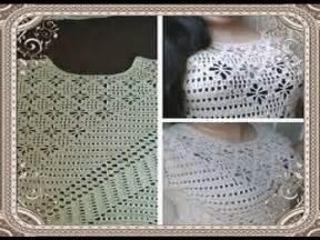 blusa en crochet ganchillo de abanicos parte 1 blusa tejida en crochet blusa tejida paso a paso en