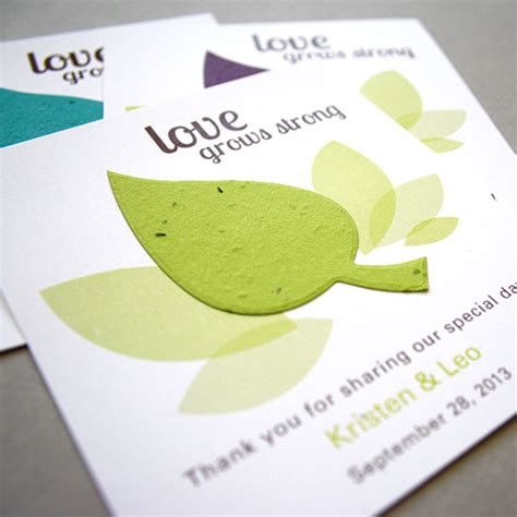 How To Make Paper With Seeds - leaf plantable seed paper favor plantable seed wedding