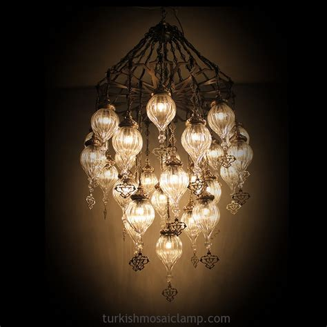turkish blown glass chandelier mosaic l mosaic l