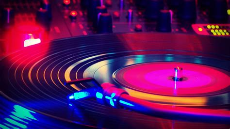 disco vinyl nights colorful turntable record