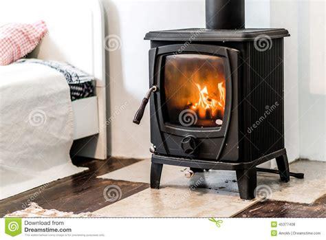 bedroom wood stove wood burning stove stock photo image 45377408