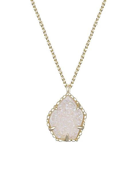 Catherine Necklace in Iridescent Drusy   from Kendra Scott