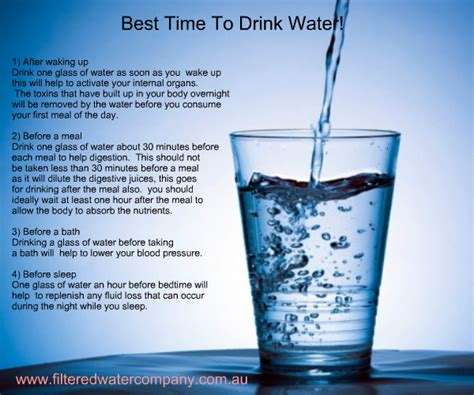 the best time to drink water filtered water company