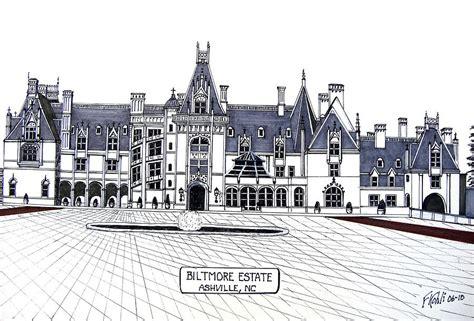 Biltmore Estate Drawing by Frederic Kohli