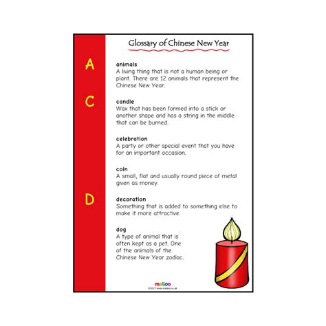 terms for new year glossary of new year special days eyfs ks1 ks2