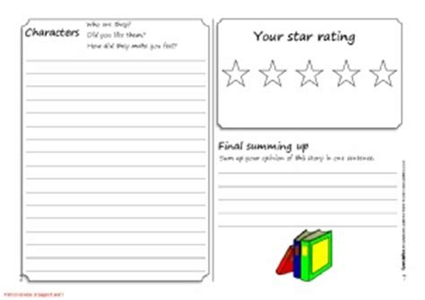 printable book review template ks3 book review writing frames and printable page borders ks1