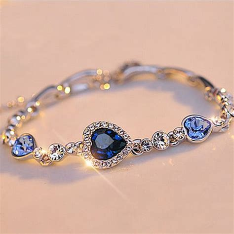 Heart Bracelet Diamond Reviews   Online Shopping Heart