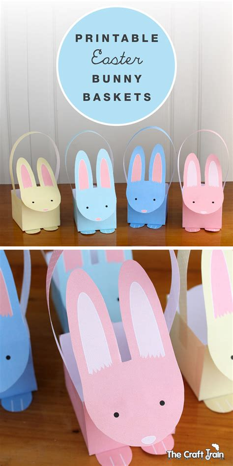 easter egg basket craft ideas www imgkid com the image printable easter bunny baskets the craft train