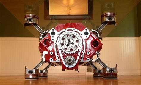 This Is A 350 Engine Block Table That I Have Built Engine Block Coffee Tables