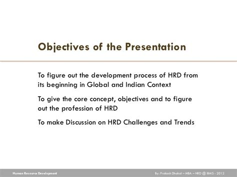 Human Resource Development Notes For Mba by Human Resource Development Hrd