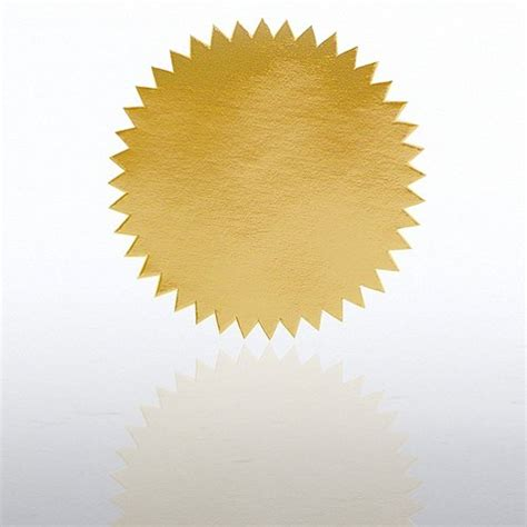 certificate seal template blank certificate seal gold at baudville