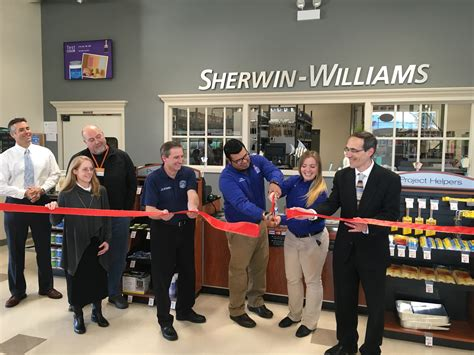 sherwin williams paint store ogden ut sherwin williams ribbon cutting held nov 23 of