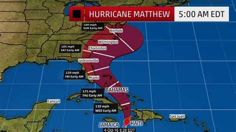hurricane map hurricane matthew tracker projected path map as catastrophic takes haitian lives
