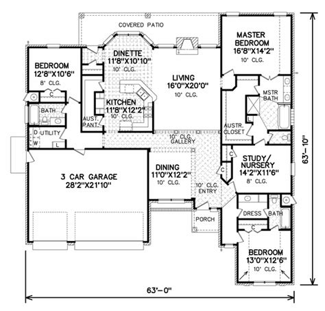 House Plans With Large Walk In Pantry perry house plans floor plan 7085 c 2017 http www perryhouseplans lh