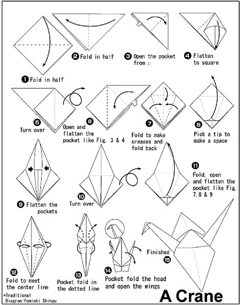 Crane Paper Folding - how to make a paper crane must try paper