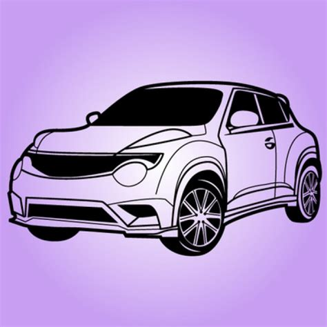 sports car black and white juke nissan sport car in black and white vector free