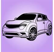 Voiture Nissan Juke Sport En Noir Et Blanc  T&233l&233charger