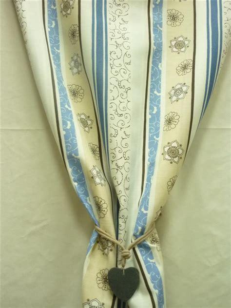 gardinen blau beige deko stoffe gardine vorhang landhaus l 228 ngsstreifen