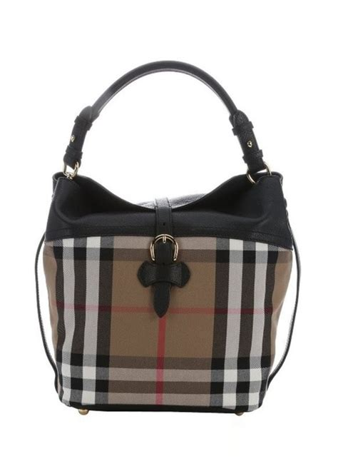 Burberry Check Canvas Hobo by Burberry Burberry Black Check Canvas Medium Sycamore