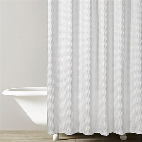 kassatex shower curtain kassatex honeycomb shower curtain in white bed bath beyond