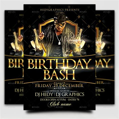 Birthday Bash Flyer Template By Hedygraphics Graphicriver Bash Flyer Template