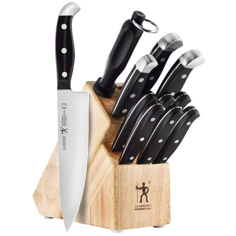 kitchen knives block set henckels international statement knife block set 12 piece