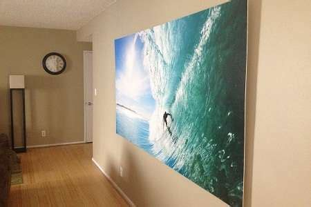 Turn Photo Into Wall Mural how to turn a wallpaper mural into a large scale hanging