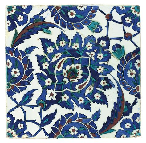 Ottoman Tiles An Iznik Pottery Tile Ottoman Turkey Circa 1570 All