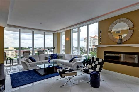 living room ft lauderdale fort lauderdale beach contemporary water view condo