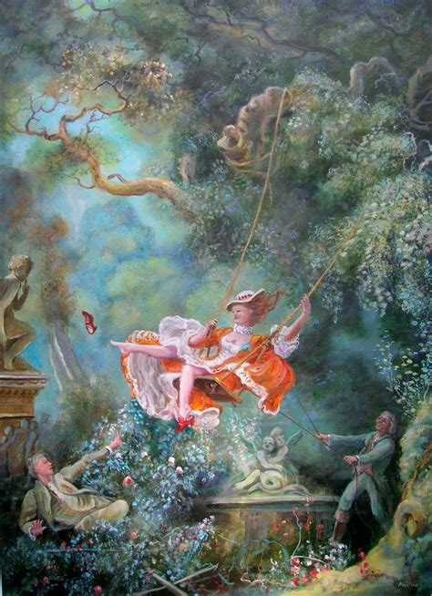 rococo the swing david aldus original oil canvas quot the swing quot after