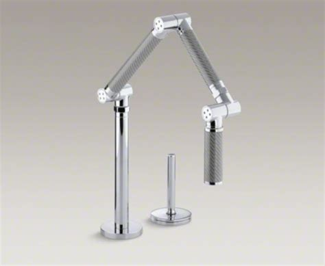 kohler karbon kitchen faucet karbon articulating two hole deck mount kitchen sink