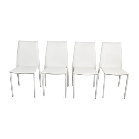 77 all modern all modern white leather dining