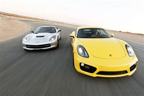 track test 2014 corvette stingray vs 2014 porsche cayman