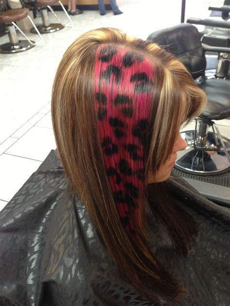 hairstyles color facebook hot pink and black cheetah print hair facebook com