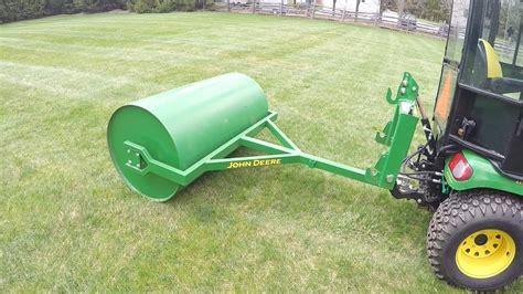 Landscape Roller Deere X748 Custom Built Lawn Roller Rolling The