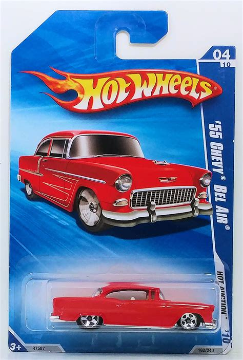 Diecast Wheels 55 Chevy Splatter Paint Series Collector 410 55 chevy bel air model cars hobbydb