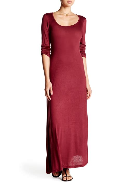 Comfort Colors Wine by 24 7 Comfort Scoop Maxi Dress Plus Size Available