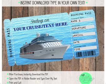 Carnival Cruise Printable Ticket Boarding Pass Customizable Etsy Customizable Pass Template