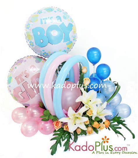 Rangkaian Bunga Segar Dan Balon Ulang Tahun Lahiran Dll rangkaian balon bunga bayi balloons more 6 kadoplus